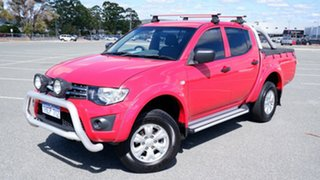 2013 Mitsubishi Triton MN MY13 GLX Double Cab Red 5 Speed Manual Utility