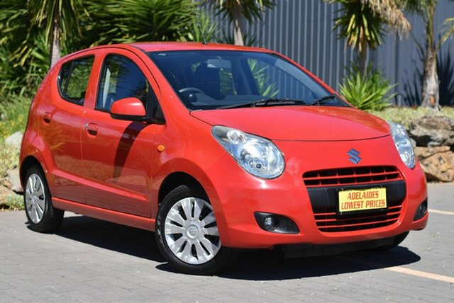 Used Suzuki Alto GF GLX Morphett Vale, 2012 Suzuki Alto GF GLX Red 5 Speed Manual Hatchback