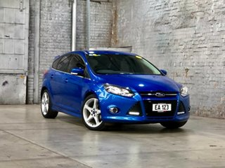 2012 Ford Focus LW MkII Titanium PwrShift Blue 6 Speed Sports Automatic Dual Clutch Hatchback.