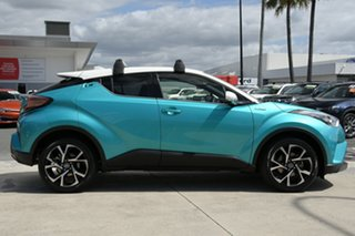 2017 Toyota C-HR NGX10R Koba S-CVT 2WD Electric Teal & White 7 Speed Constant Variable Wagon