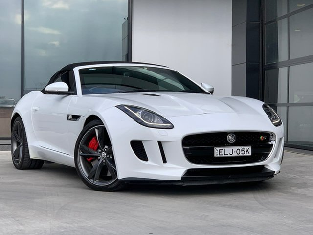 Used Jaguar F-TYPE X152 MY14 S Liverpool, 2014 Jaguar F-TYPE X152 MY14 S White 8 Speed Sports Automatic Convertible
