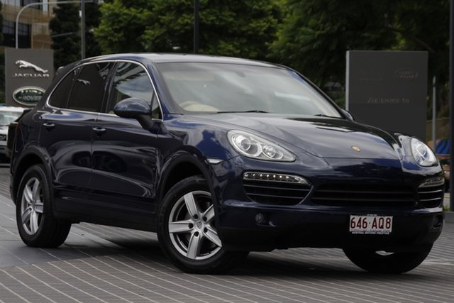 Used Porsche Cayenne 92A MY15 Diesel Tiptronic Newstead, 2014 Porsche Cayenne 92A MY15 Diesel Tiptronic Blue 8 Speed Sports Automatic Wagon