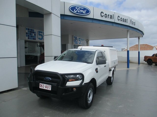 Used Ford Ranger PX MkII MY17 Update XL 3.2 (4x4) Bundaberg, 2017 Ford Ranger PX MkII MY17 Update XL 3.2 (4x4) White 6 Speed Automatic Super Cab Chassis