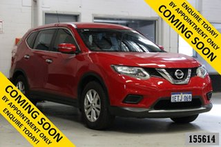 2015 Nissan X-Trail T32 ST (FWD) Red Continuous Variable Wagon.