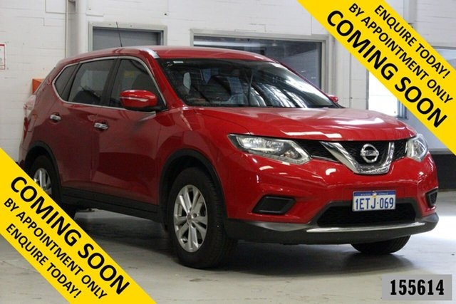 Used Nissan X-Trail T32 ST (FWD) Bentley, 2015 Nissan X-Trail T32 ST (FWD) Red Continuous Variable Wagon