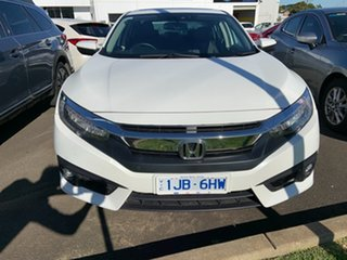 2017 Honda Civic 10th Gen MY16 VTi-LX White 1 Speed Constant Variable Sedan.