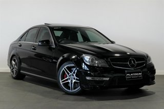 2013 Mercedes-Benz C-Class W204 MY13 C63 AMG SPEEDSHIFT MCT Black 7 Speed Sports Automatic Sedan