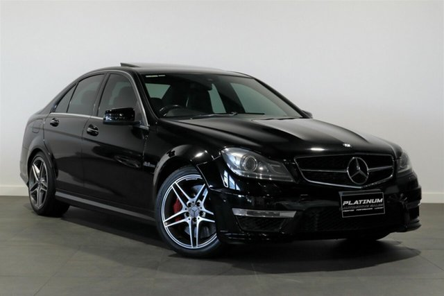 Used Mercedes-Benz C-Class W204 MY13 C63 AMG SPEEDSHIFT MCT Bayswater, 2013 Mercedes-Benz C-Class W204 MY13 C63 AMG SPEEDSHIFT MCT Black 7 Speed Sports Automatic Sedan
