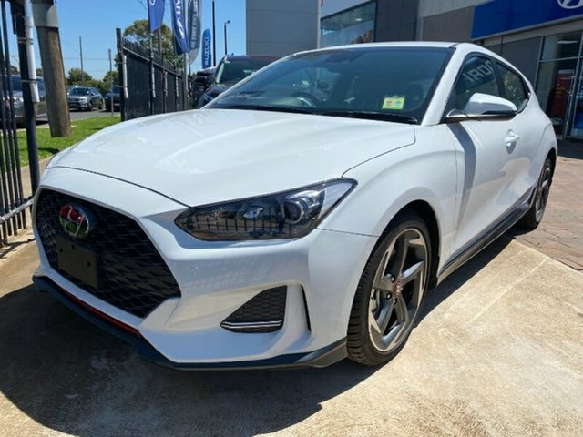 New Hyundai Veloster JS MY20 Turbo Coupe D-CT Melton, 2019 Hyundai Veloster JS MY20 Turbo Coupe D-CT Chalk White 7 Speed Sports Automatic Dual Clutch