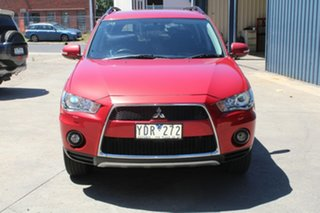 2011 Mitsubishi Outlander ZH MY11 XLS Red 6 Speed CVT Auto Sequential Wagon.