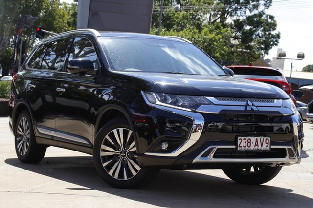 Demo Mitsubishi Outlander ZL MY21 Exceed AWD Toowoomba, 2020 Mitsubishi Outlander ZL MY21 Exceed AWD Black 6 Speed Constant Variable Wagon