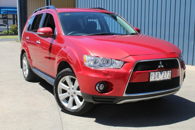Used Mitsubishi Outlander ZH MY11 XLS West Footscray, 2011 Mitsubishi Outlander ZH MY11 XLS Red 6 Speed CVT Auto Sequential Wagon