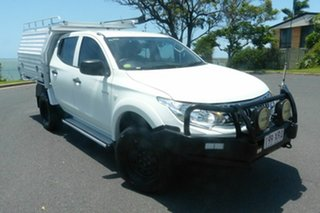 2015 Mitsubishi Triton GLX White 5 Speed Automatic Dual Cab.