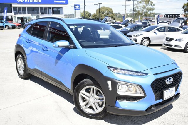 Used Hyundai Kona OS MY18 Active 2WD Ferntree Gully, 2018 Hyundai Kona OS MY18 Active 2WD Blue 6 Speed Sports Automatic Wagon