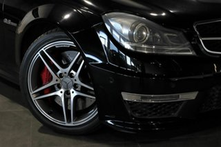 2013 Mercedes-Benz C-Class W204 MY13 C63 AMG SPEEDSHIFT MCT Black 7 Speed Sports Automatic Sedan.