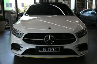 2018 Mercedes-Benz A-Class W177 A250 DCT 4MATIC AMG Line White 7 Speed Auto Sportshift Hatchback