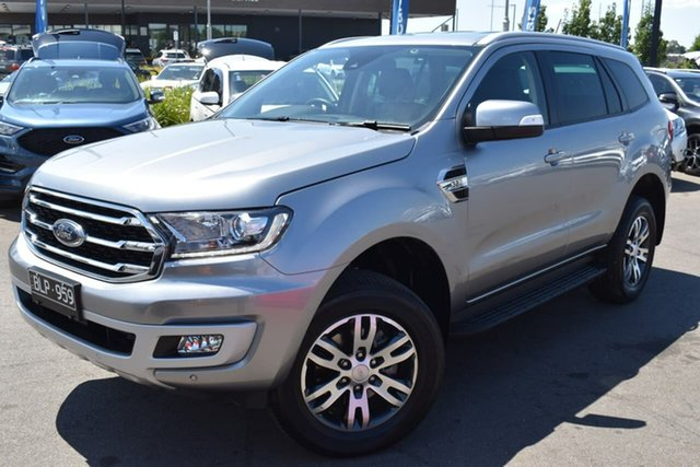 Used Ford Everest UA II 2019.75MY Trend Essendon Fields, 2019 Ford Everest UA II 2019.75MY Trend Silver 10 Speed Sports Automatic SUV