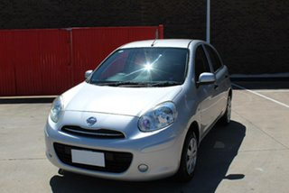 2014 Nissan Micra K13 MY13 ST Silver 5 Speed Manual Hatchback.