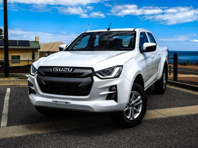 Used Isuzu D-MAX RG MY21 LS-M Crew Cab Christies Beach, 2020 Isuzu D-MAX RG MY21 LS-M Crew Cab White 6 Speed Sports Automatic Utility