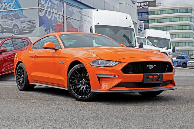 Used Ford Mustang FN 2019MY GT Springwood, 2019 Ford Mustang FN 2019MY GT Orange 6 Speed Manual Fastback