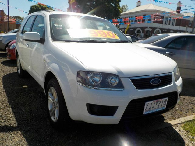 Used Ford Territory SY MkII TX (RWD) Newtown, 2009 Ford Territory SY MkII TX (RWD) White 4 Speed Auto Seq Sportshift Wagon