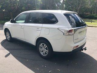 2013 Mitsubishi Outlander ZJ MY14 LS (4x4) White Continuous Variable Wagon