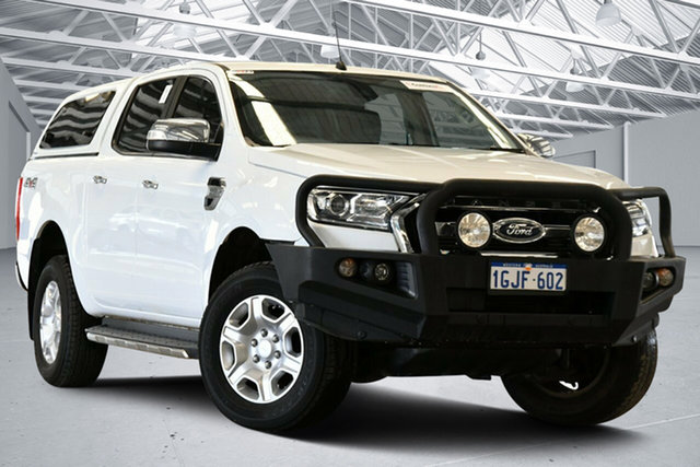 Used Ford Ranger PX MkII MY17 XLT 3.2 (4x4) Perth Airport, 2017 Ford Ranger PX MkII MY17 XLT 3.2 (4x4) Cool White 6 Speed Automatic Double Cab Pick Up