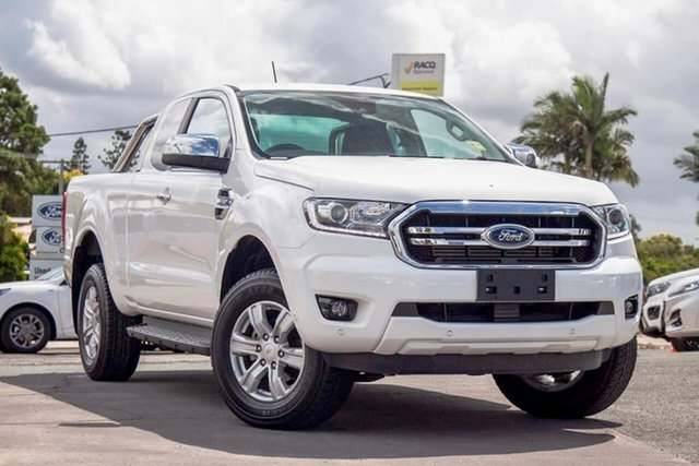 Used Ford Ranger PX MkIII 2019.00MY XLT Gympie, 2019 Ford Ranger PX MkIII 2019.00MY XLT Arctic White 6 Speed Sports Automatic Super Cab Pick Up