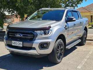 2019 Ford Ranger PX MkIII 2019.75MY Wildtrak Silver 6 Speed Sports Automatic Double Cab Pick Up.