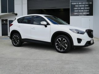 2015 Mazda CX-5 KE1022 Grand Touring SKYACTIV-Drive AWD White 6 Speed Sports Automatic Wagon.