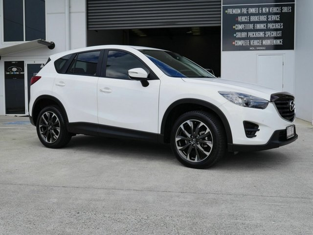 Used Mazda CX-5 KE1022 Grand Touring SKYACTIV-Drive AWD Capalaba, 2015 Mazda CX-5 KE1022 Grand Touring SKYACTIV-Drive AWD White 6 Speed Sports Automatic Wagon