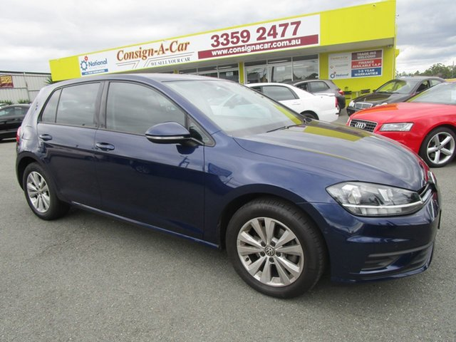 Used Volkswagen Golf 7.5 MY18 110TSI DSG Trendline Kedron, 2018 Volkswagen Golf 7.5 MY18 110TSI DSG Trendline Blue 7 Speed Sports Automatic Dual Clutch