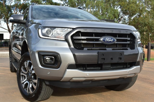 Used Ford Ranger PX MkIII 2019.00MY Wildtrak St Marys, 2019 Ford Ranger PX MkIII 2019.00MY Wildtrak Silver 10 Speed Sports Automatic Double Cab Pick Up