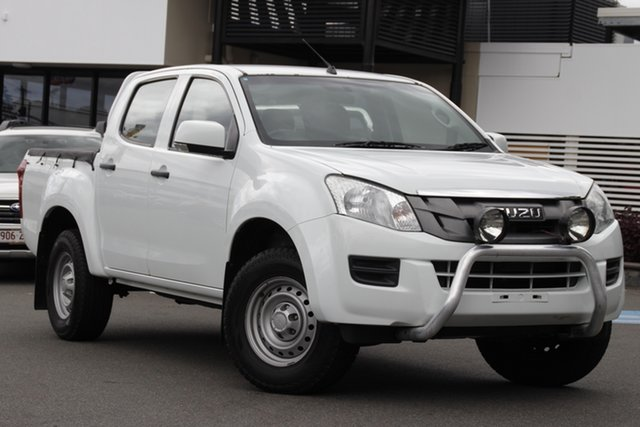 Used Isuzu D-MAX MY15 SX Crew Cab 4x2 High Ride Mount Gravatt, 2015 Isuzu D-MAX MY15 SX Crew Cab 4x2 High Ride White 5 Speed Sports Automatic Utility