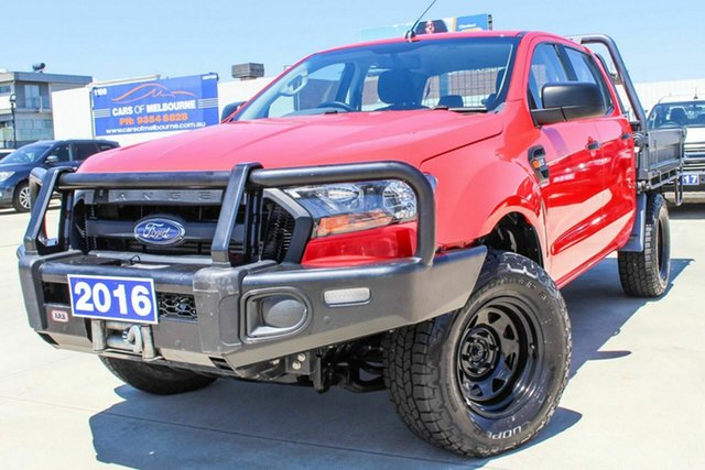 Used Ford Ranger PX MkII XL Coburg North, 2016 Ford Ranger PX MkII XL Red 6 Speed Sports Automatic Cab Chassis