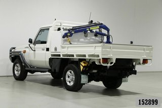 2013 Toyota Landcruiser VDJ79R MY12 Update GXL (4x4) White 5 Speed Manual Cab Chassis