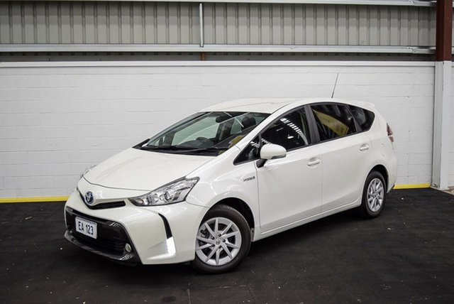 Used Toyota Prius v ZVW40R Upgrade Hybrid Canning Vale, 2017 Toyota Prius v ZVW40R Upgrade Hybrid White Continuous Variable Wagon