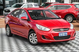 2017 Hyundai Accent RB4 MY17 Active Red 6 Speed Constant Variable Hatchback.