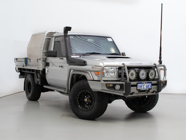 Used Toyota Landcruiser VDJ79R MY12 Update GXL (4x4), 2013 Toyota Landcruiser VDJ79R MY12 Update GXL (4x4) Silver 5 Speed Manual Cab Chassis