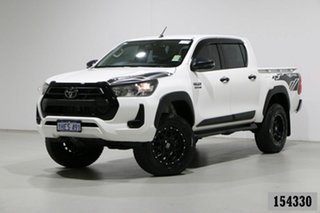 2020 Toyota Hilux GUN126R Facelift SR (4x4) White 6 Speed Manual Double Cab Pick Up.