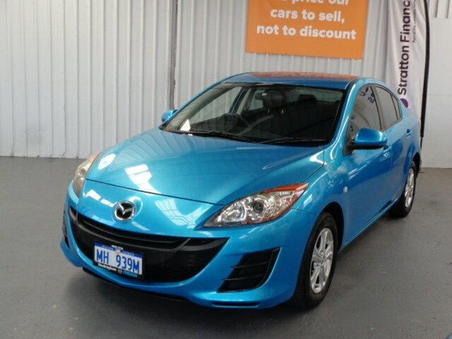 Used Mazda 3 BL10F1 Maxx Activematic Rockingham, 2009 Mazda 3 BL10F1 Maxx Activematic Blue 5 Speed Sports Automatic Sedan