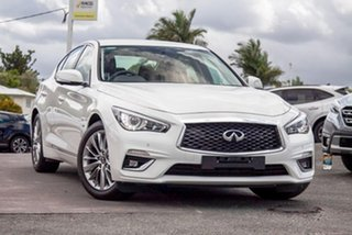 2019 Infiniti Q50 V37 Pure Moonlight White 7 Speed Sports Automatic Sedan.