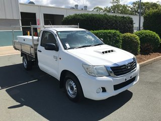 2014 Toyota Hilux KUN16R MY14 SR 4x2 Glacier 5 speed Manual Cab Chassis.