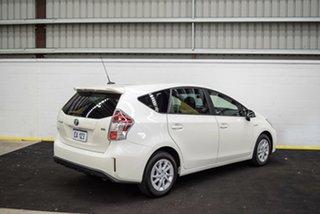 2017 Toyota Prius v ZVW40R Upgrade Hybrid White Continuous Variable Wagon