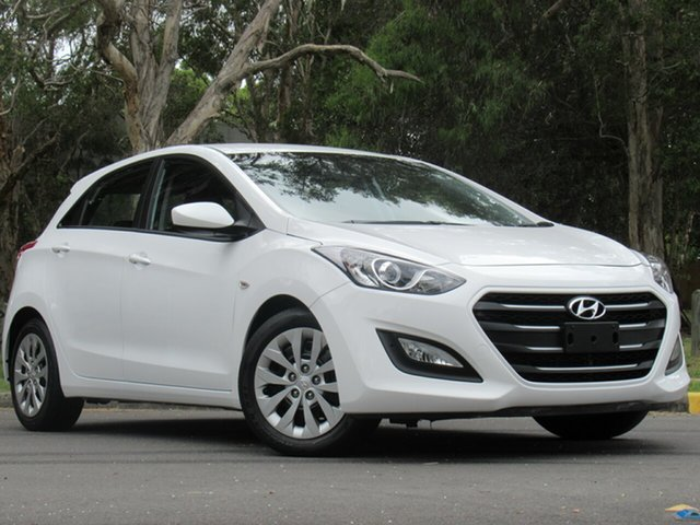 Used Hyundai i30 GD4 Series II MY17 Active, 2016 Hyundai i30 GD4 Series II MY17 Active White 6 Speed Manual Hatchback
