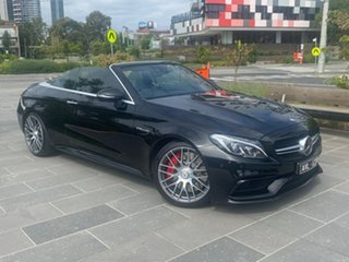 2016 Mercedes-Benz C-Class A205 C63 AMG SPEEDSHIFT MCT S Black 7 Speed Sports Automatic Cabriolet.