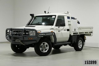 2013 Toyota Landcruiser VDJ79R MY12 Update GXL (4x4) White 5 Speed Manual Cab Chassis.