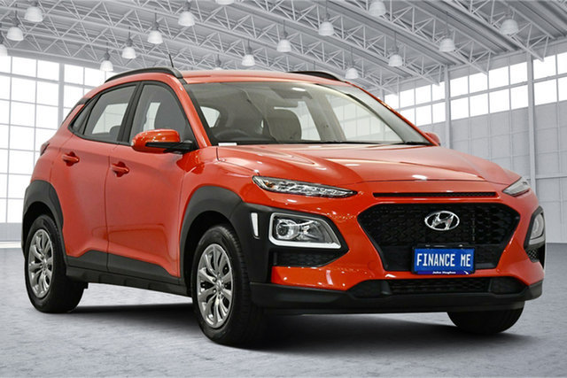 Used Hyundai Kona OS.2 MY19 Go 2WD Victoria Park, 2019 Hyundai Kona OS.2 MY19 Go 2WD Orange 6 Speed Sports Automatic Wagon