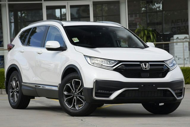 New Honda CR-V RW MY21 VTi FWD L7 Mount Gravatt, 2020 Honda CR-V RW MY21 VTi FWD L7 Platinum White 1 Speed Constant Variable Wagon