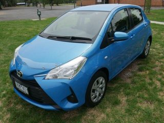 2017 Toyota Yaris NCP130R MY17 Ascent Azure Blue 4 Speed Automatic Hatchback.